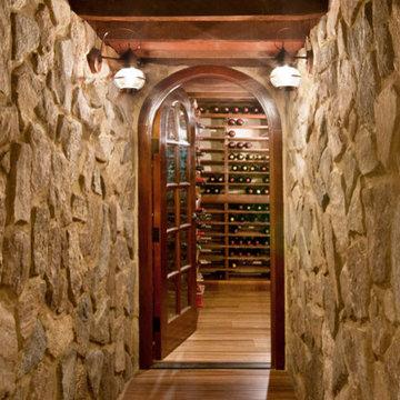 Renovisions Design & Remodeling Wine Cellar in Duxbury MA