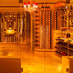 contemporary wine cellar by diamondLife
