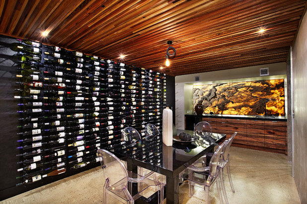 Contemporary Wine Cellar by Bagnato Architecture & Interiors