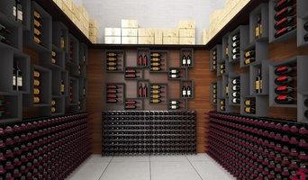Residential wine cellar furniture