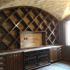 Traditional Wine Cellar by RiverCity Cabinets