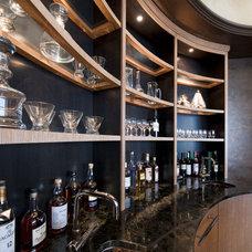 Modern Wine Cellar by Robert J Erdmann Design, LLC