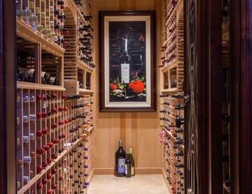 Robeson Design Wine Room and Home Bar Storage Solutions