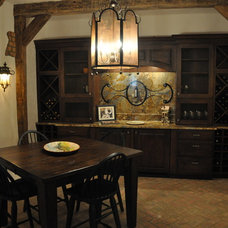 Traditional Wine Cellar by Kitchens By Design