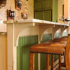 Rustic Wine Cellar by Mullet Cabinet