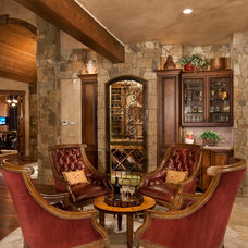 Traditional Wine Cellar by DESIGN ONE INTERIORS