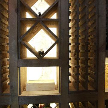 Rustic Raw Wood Wine Cellar