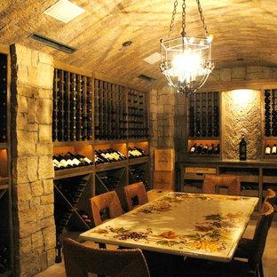 Rustic stone wine cellar