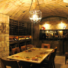 Traditional Wine Cellar by The French Tradition