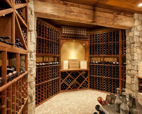 Wine cellar design ideas remodels photos - Basement wine cellar ideas ...