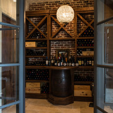 Mediterranean Wine Cellar by P. Shea Design