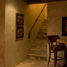 Traditional Wine Cellar by Sam Allen Custom Home Design