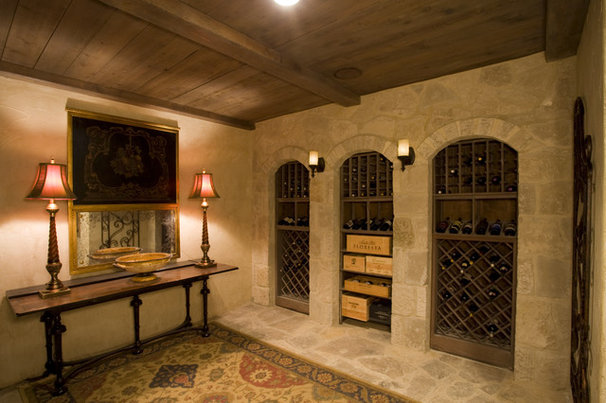 Traditional Wine Cellar by Sam Allen Custom Home Design