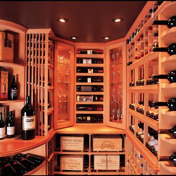 San Diego Custom Wine Cellar Design with Focus on Wine Display Del Mar La Jolla