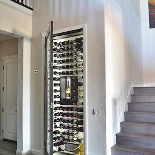 popular modern gray wine cellar design ideas
