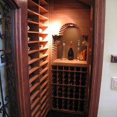traditional wine cellar by COOK ARCHITECTURAL Design Studio