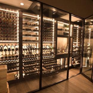 San Juan Capistrano Glass Contemporary Modern Wine Cellar Wine Wall Wine Room