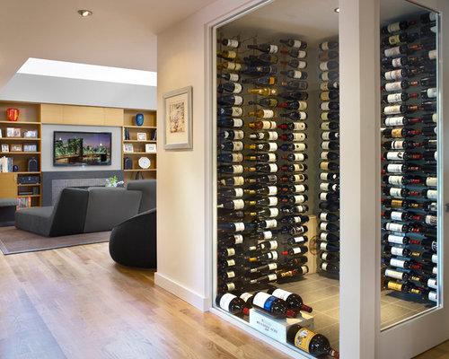 photos et id es d co de caves vin modernes avec un. Black Bedroom Furniture Sets. Home Design Ideas