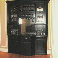 traditional wine cellar by Sarah Pryor of Etown Kitchens + Baths