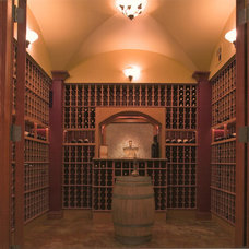 Traditional Wine Cellar by Louie Leu Architect, Inc.