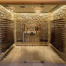 Contemporary Wine Cellar by Conrado - Home Builders