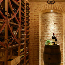 Mediterranean Wine Cellar by Jon Eric Christner ARCHITECT INC.