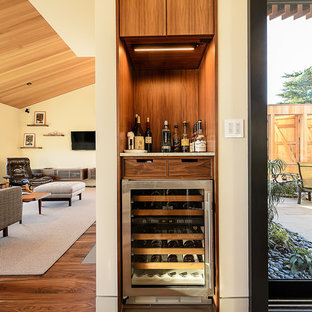 Inspiration for a midcentury wine cellar in San Francisco.