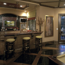 Traditional Wine Cellar by The Evans Group