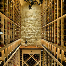 Traditional Wine Cellar by Simpson Design Group Architects