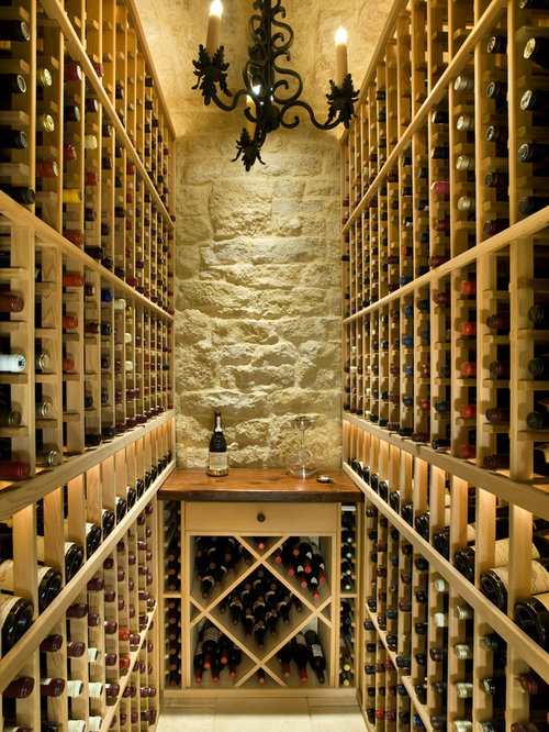 Small space wine cellar design ideas remodels photos for Small basement wine cellar