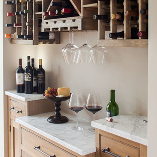 Photo of a small coastal wine cellar in New York.
