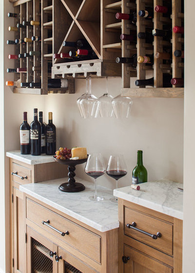 Beach Style Wine Cellar by Connecticut Stone