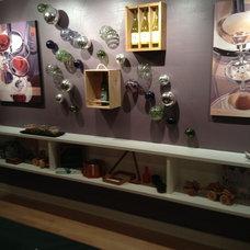 Contemporary Wine Cellar by Garth Andrew Company