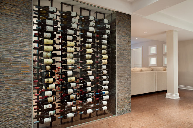 Contemporary Wine Cellar by Gabriele Pizzale Design Inc.