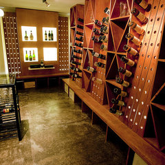 contemporary wine cellar by mossArchitects
