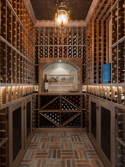 Small wine cellar design ideas remodels photos with for Wine cellar flooring options