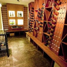 Modern Wine Cellar by mossArchitects