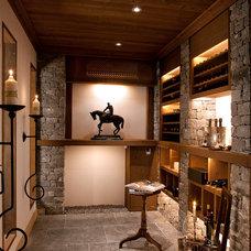 Contemporary Wine Cellar by MCM Designstudio