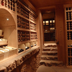 mediterranean wine cellar by Skiby & Sons