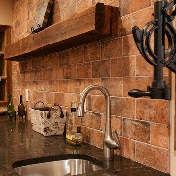 Slabaugh Remodeling Best Basement Ever Contemporary-Rustic Finished Basement