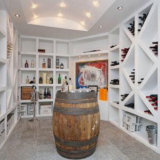 Example of a danish wine cellar design in Other