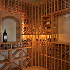 Traditional Wine Cellar by Kollin Altomare Architects
