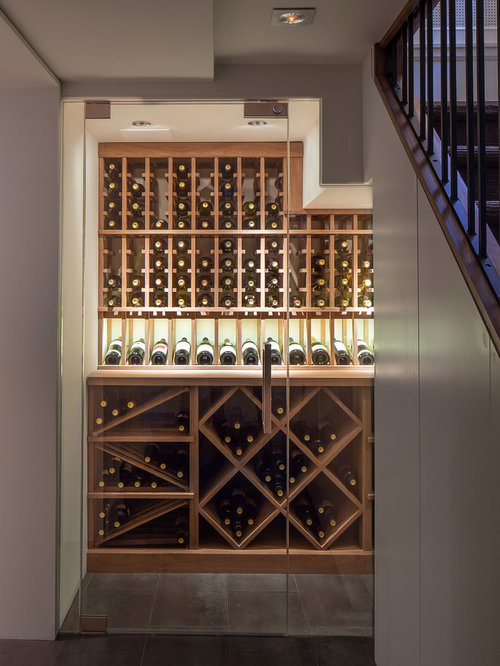 Small wine cellar home design ideas renovations photos for Small basement wine cellar