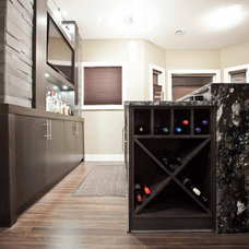 Contemporary Wine Cellar by Urban Abode