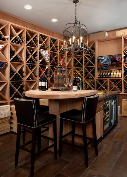 Contemporary Wine Cellar by Jeffrey King Interiors