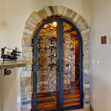 Mediterranean Wine Cellar by Finished Basement Company