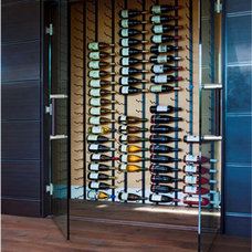 Contemporary Wine Cellar by Blueline Architects p.c.