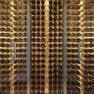 Exemple d'une cave à vin tendance.