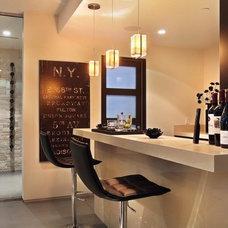 Contemporary Wine Cellar by Brandon Architects, Inc.