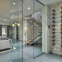 contemporary wine cellar by Brandon Architects, Inc.